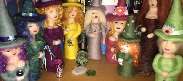 My Beryl Cook inspired witches.