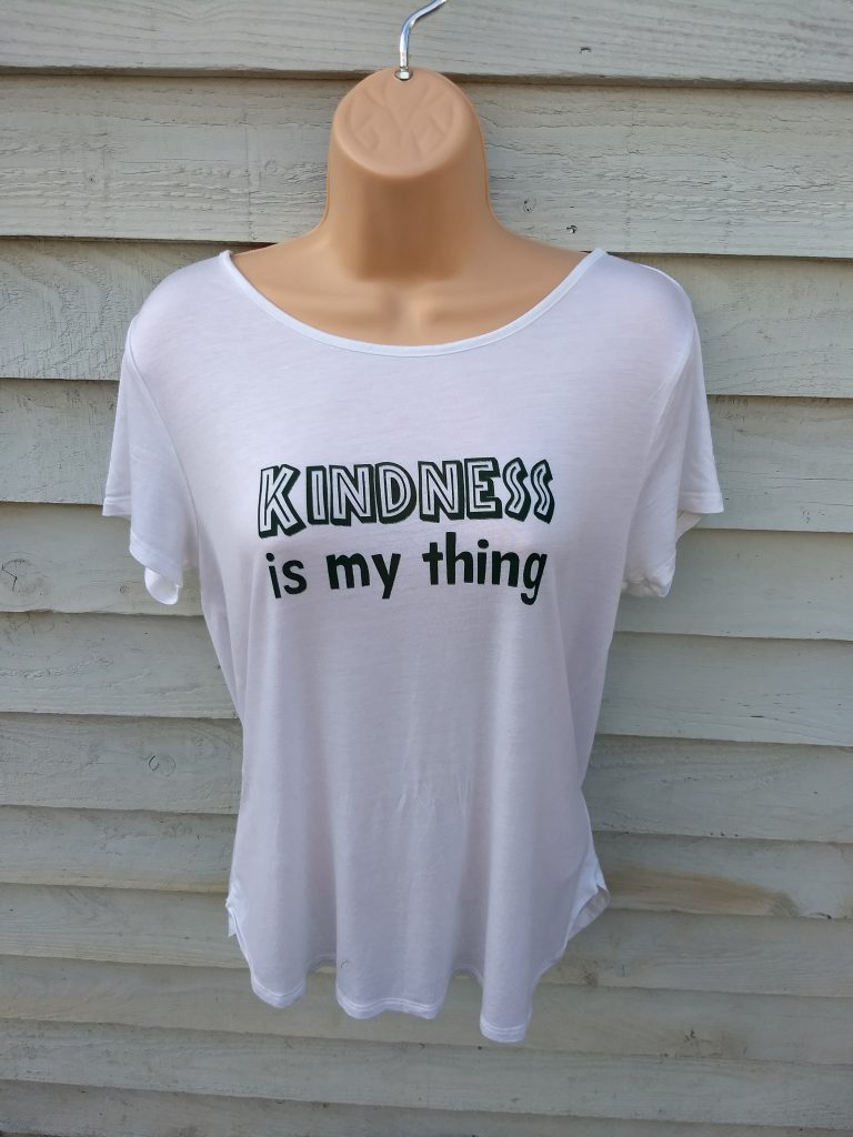 kindness is my thing. screen printed t-shirt.