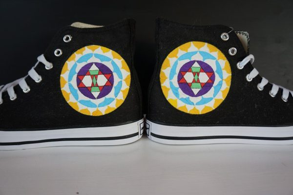 mandala design shoes