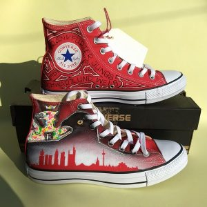frankfurt footbal club hi rise red converse
