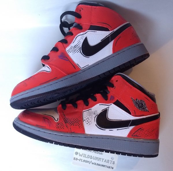 mike morales into the spiderverse air jordans