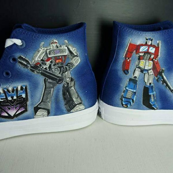 blue transformers converse