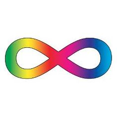 the infinity sign in rainbow colours